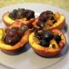 SCD Recipe: Cherry Peach Boats