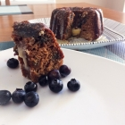 SCD Recipe: Blueberry Coconut Bundt Cake with Vanilla White Chocolate Glaze