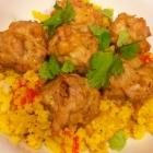 SCD Recipe: Indian Spiced Meatballs with Creamy Turmeric Cauliflower Rice
