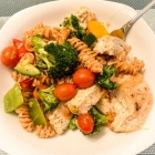Beyond SCD Recipe: Red Lentil Pasta with Chicken and Roasted Vegetables